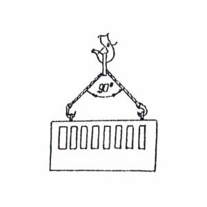 Схема строповки ж/б забора
