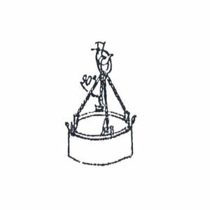 Схема строповки канализационного кольца
