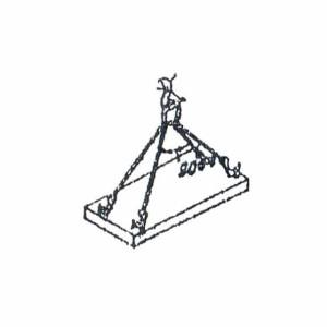 Схема строповки плиты перекрытия
