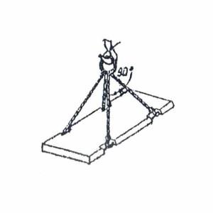 Схема строповки дорожной ж/б плиты