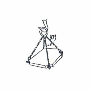Схема строповки ж/б плиты
