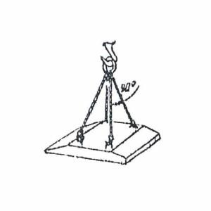 Схема строповки фундаментного блока-подушки