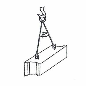 Схема строповки фундаментного блока