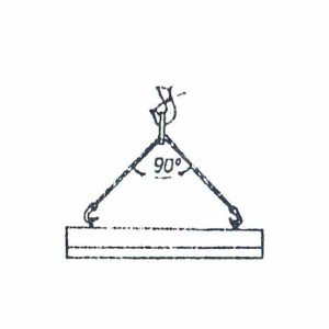 Схема строповки бордюрного блока