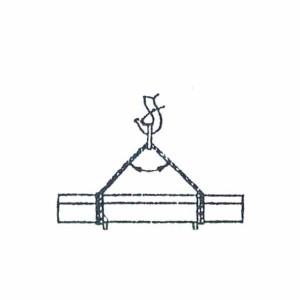Схема строповки бордюрного блока (наружного)