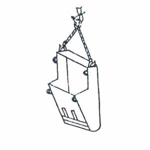 Схема строповки бадьи (при разгрузке)