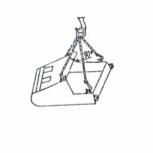 Схема строповки бадьи (при подаче под загрузку)