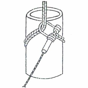 Схема строповки опоры ЛЭП (монтажная)