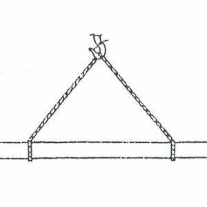 Схема строповки опор ЛЭП