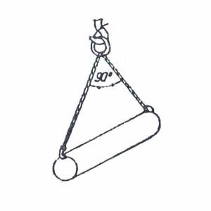 Схема строповки труб