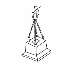 Схема строповки фундаментного стакана
