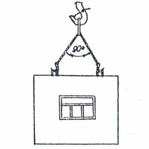 Схема строповки стеновой панели