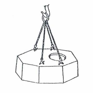 Схема строповки крышки колодца