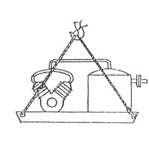 Схема строповки негабаритного оборудования