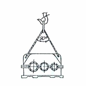 Схема строповки редуктора