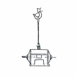 Схема строповки электродвигателя