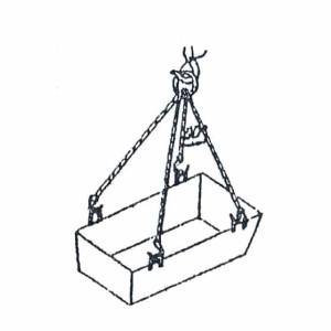 Схема строповки ящика для раствора и контейнера