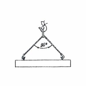 Схема строповки элемента ж/б забора и перемычек